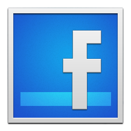 facebook white frame
