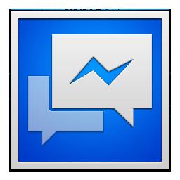 facebook messenger white frame