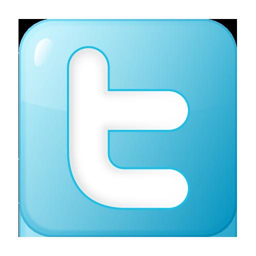 social twitter box blue