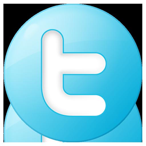 social twitter button blue