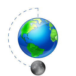 moon phase full earth