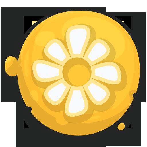 cartoony icons flower
