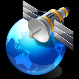 satellite globe blue