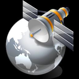 satellite globe grey