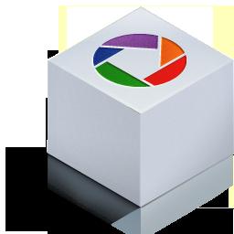 cube 3d picasa color