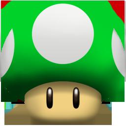 super mario 1up mushroom
