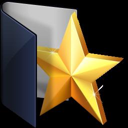 folder blue favs