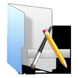 folder blue app