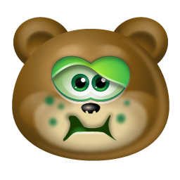 teddybear sick