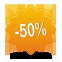 50 pourcentage off