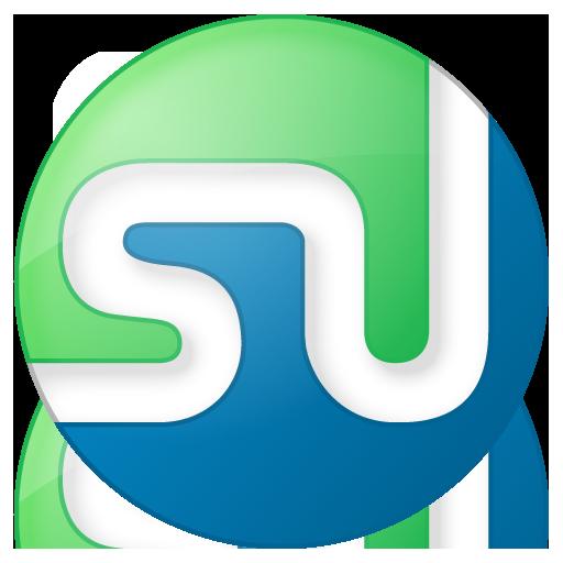 social stumbleupon button color