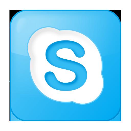 social skype box blue