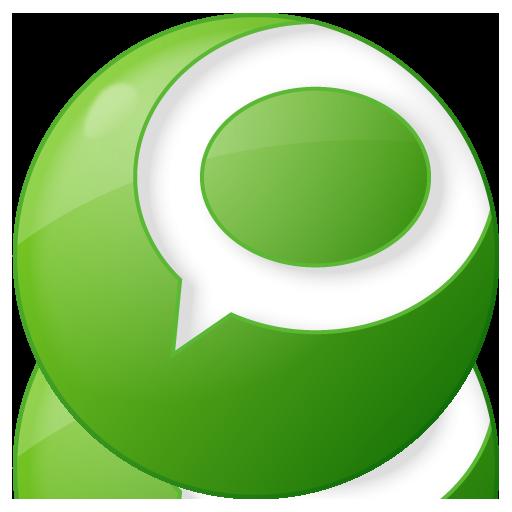 social technorati button green