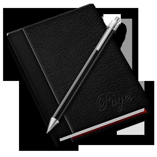 pages blanck noir