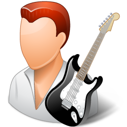 peopleicons guitarist male