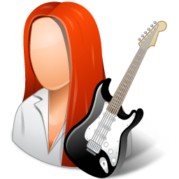 peopleicons guitarist femme