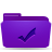 folder violet todos