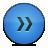 button fastforward bleu