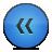 button rewind bleu