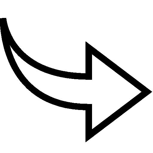 White arrow icon png