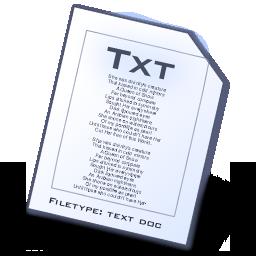 file types txt