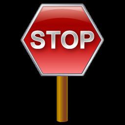 stopsign post