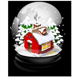christmas house boule neige
