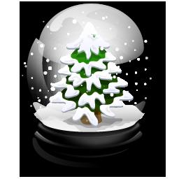 christmas tree boule neige