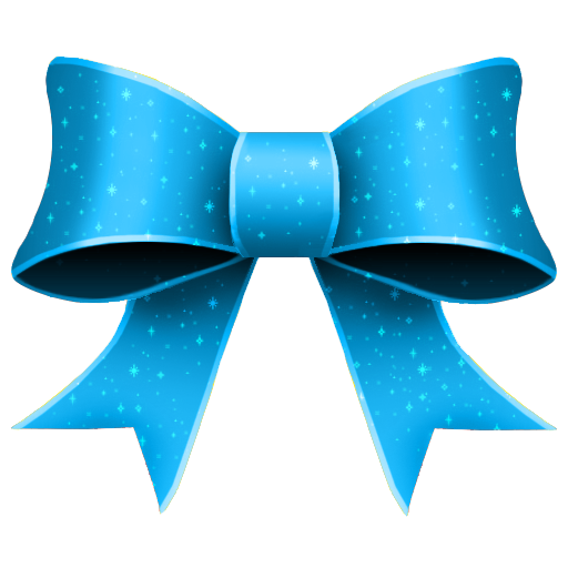 ribbon blue pattern decoration