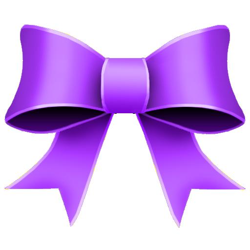 ribbon purple decoration
