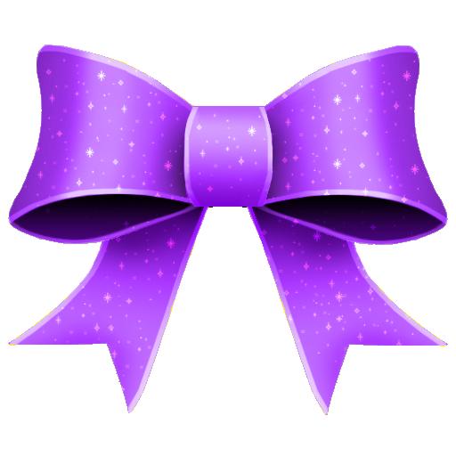 ribbon purple pattern decoration
