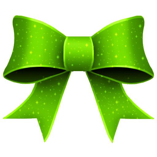 ribbon green pattern decoration