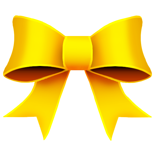 ribbon yellow decoration