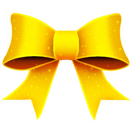 ribbon yellow pattern decoration
