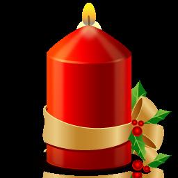 christmas 1 candle bougie