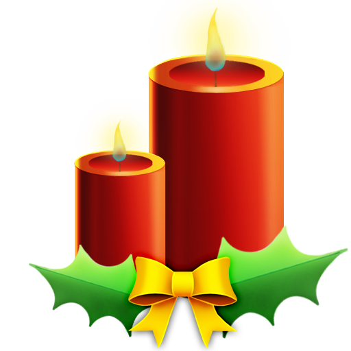candles with ribbon bougie