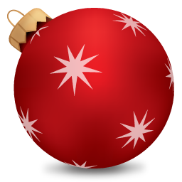 christmas ball red boules