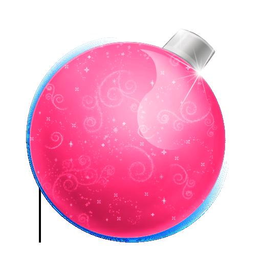 christmas ball pink boules