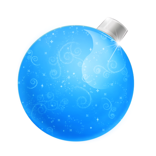 christmas ball blue boules