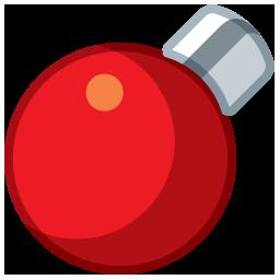 light circle red boule