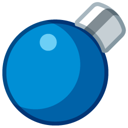 light circle blue boule