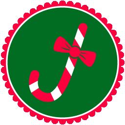 christmas candy cane bonbon