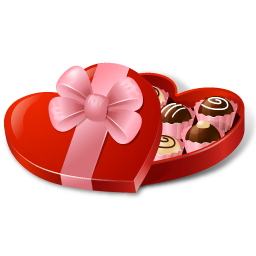 candybox heartshaped bonbon