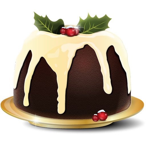 christmas pudding gateau