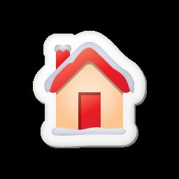 noel stickers 14 maison