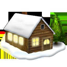 christmas houseinsnow maison