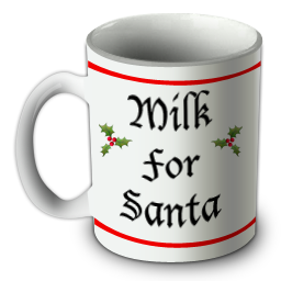 milk for santa mug objet