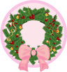 christmas wreath couronne