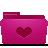 folder pink favorites