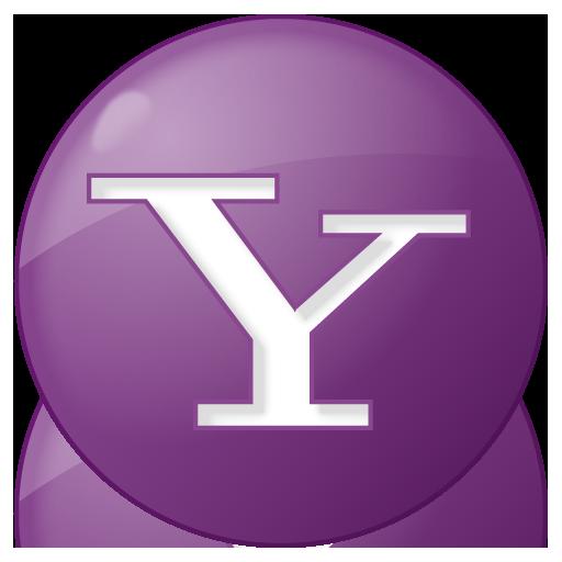 social yahoo button lilac